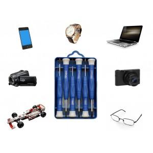 Set 6 cacciaviti di precisione taglio-stella riparazioni dispositivi elettronici notebook orologi modellismo cellulari