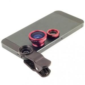 Image of Set 2 lenti obiettivo smartphone pinza universali FishEye 8048454844742