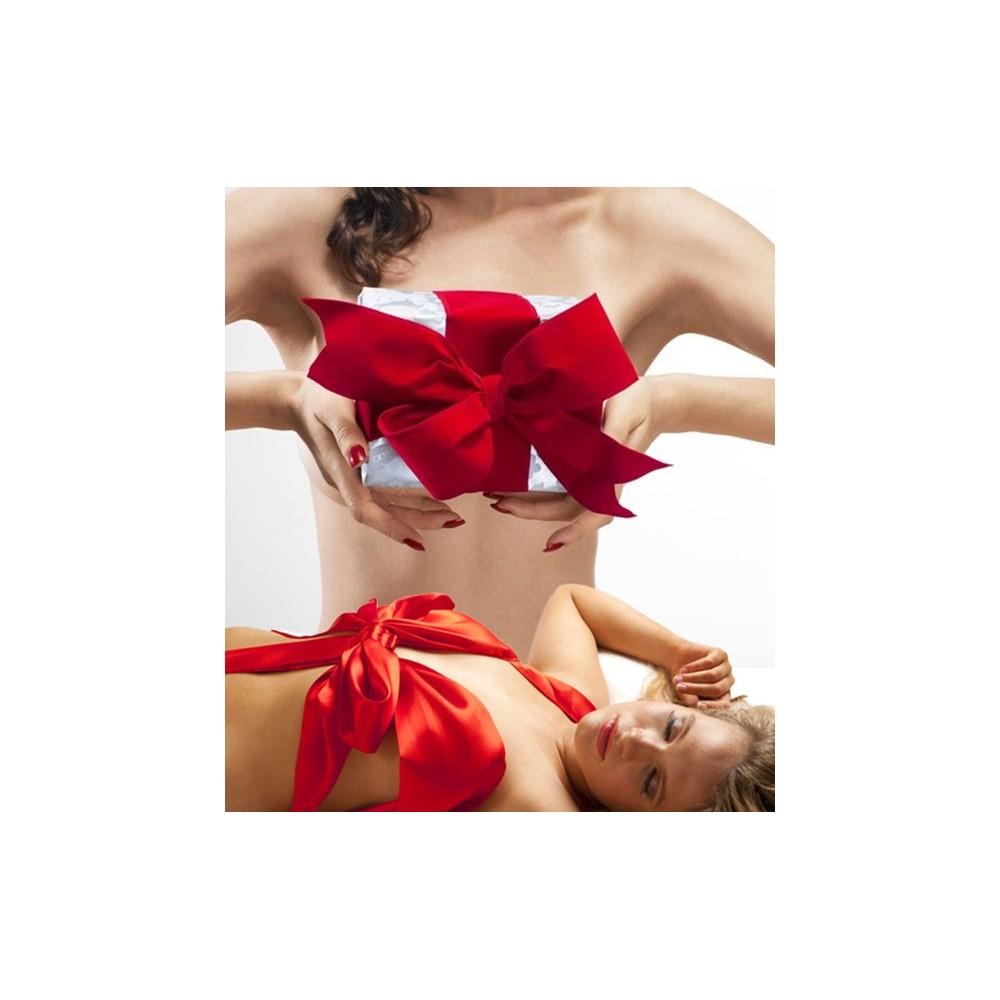 Fiocco di raso rosso sexy diventa tu stessa il regalo per il tuo uomo