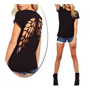 Maglia mezza manica con ali intagliate sulla schiena T-shirt wings essenziale
