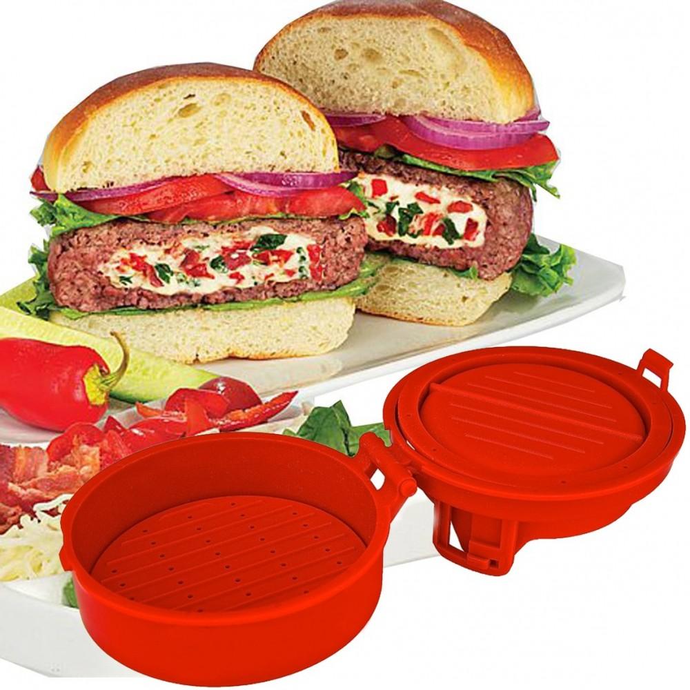 Pressa hamburger normali o farciti stampo burger  stampino utensile da cucina