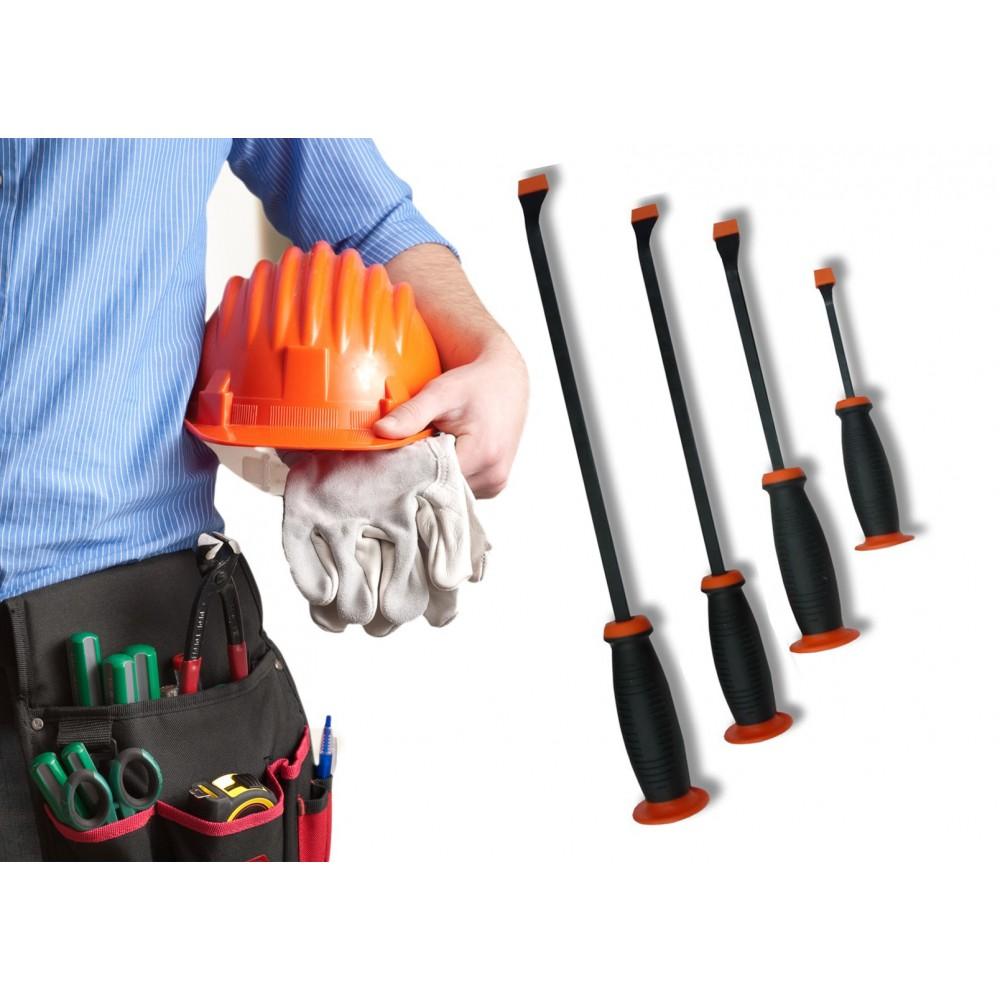 Set di 4 leve in acciaio multiuso fai da te officina 200 - 300 - 450 - 600 mm