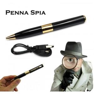 Penna spia biro con microtelecamera con memoria sd espandibile viedeo e audio