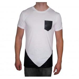 Image of Maglia MWS Ahead mod. FUSION uomo mezza manica t-shirt con tessuti a contrasto 8013244132439