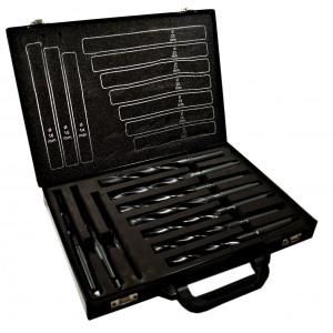 Set 10 punte da 14 a 23 mm frese per trapano in valigetta