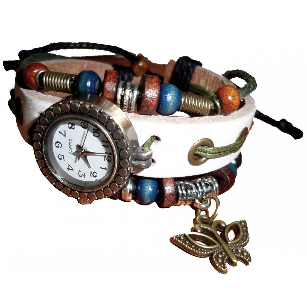 Orologio vintage con FARFALLA retrò farfalla tendenza watch quadrante TONDO