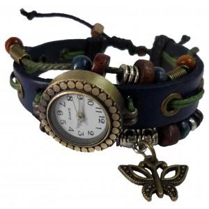 Orologio vintage con FARFALLA retrò farfalla tendenza watch quarzo quadrante TONDO
