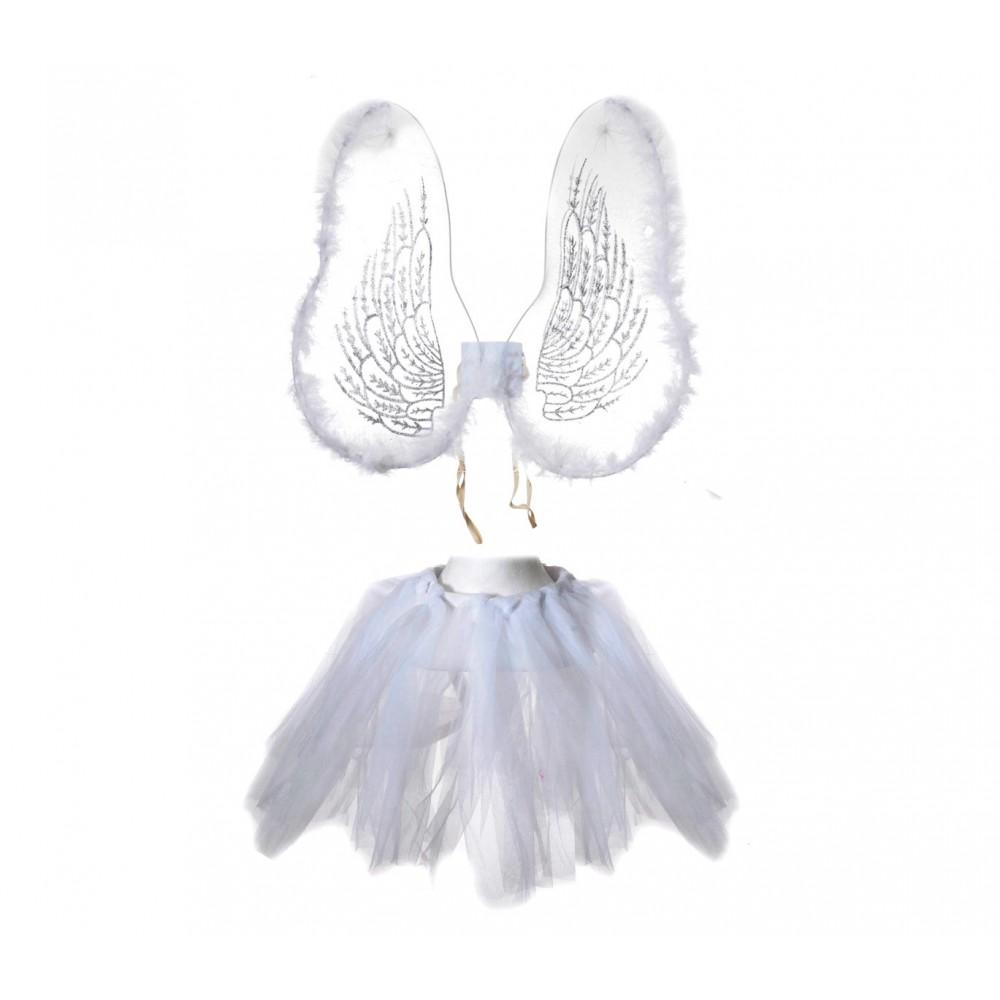 Costume carnevale travestimento 441020 ANGELO BIANCO 2pz taglia unica