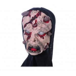 Maschera travestimento carnevale 441622 ZOMBIE CON COPRICAPO misura unica