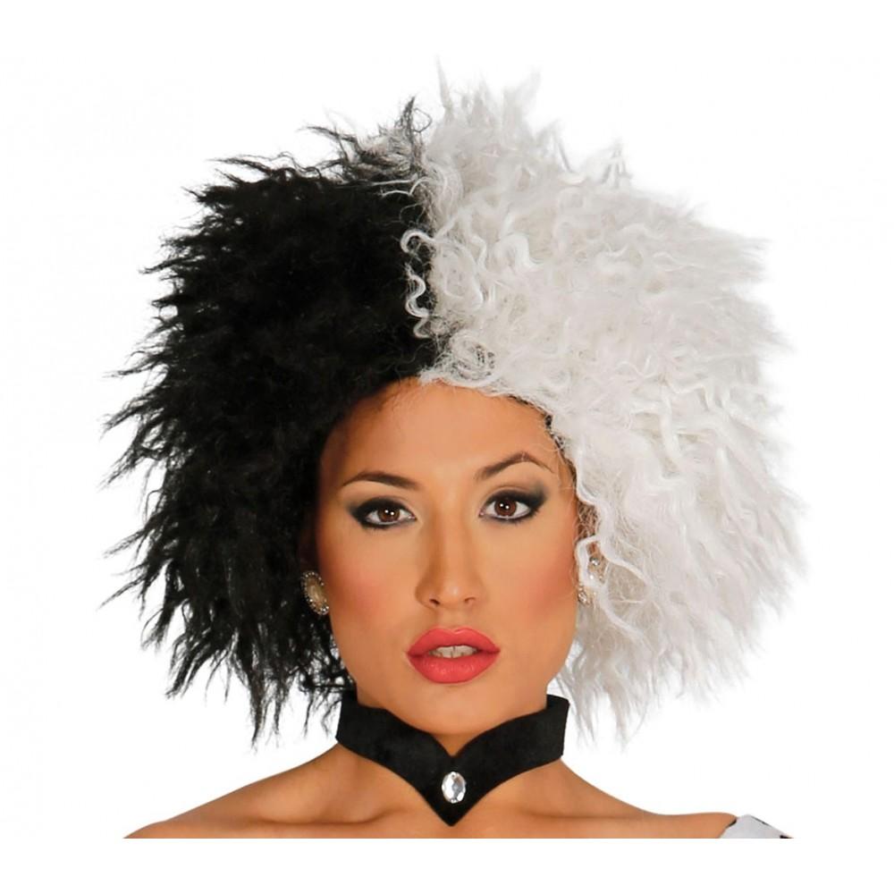 Parrucca travestimento 444267 CRUDELIA DEMON bicolore ideale per Carnevale
