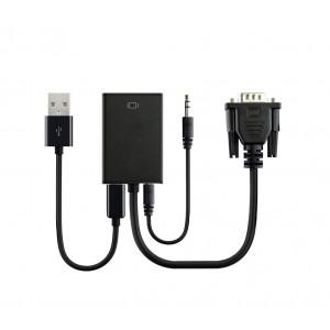Adattatore video universale 560929 da VGA ad HDMI con ingresso audio