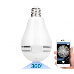 Telecamera Wi-Fi di sorveglianza con attacco E27 768881 Panoramica 360°