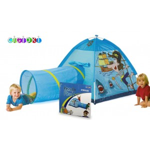 Tenda da gioco dei pirati con tunnel pop up per bambini