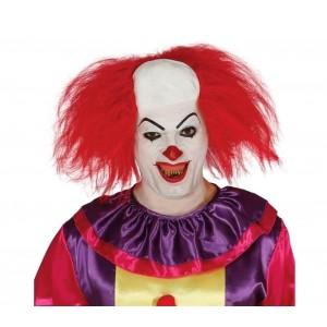 Parrucca da clown semicalvo con cuffia 049761 per feste e rappresentazioni