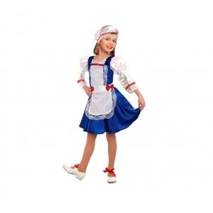 Costume carnevale per bambina OLANDESINA con cuffietta inclusa 368769