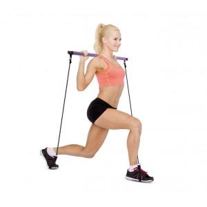 Bastone da allenamento per pilates 717176 per esercizi a corpo libero con DVD