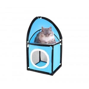 Cuccia ad angolo per gatti a 2 piani con imbottitura calda smontabile 004065