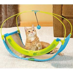 Gioco interattivo per gatti multifunzione 220939 con pallina e labirinto