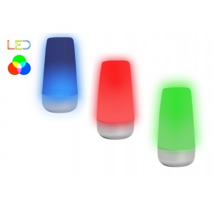 Lampada da tavolo multicolor a led color changing luce d'atmosfera cromoterapia