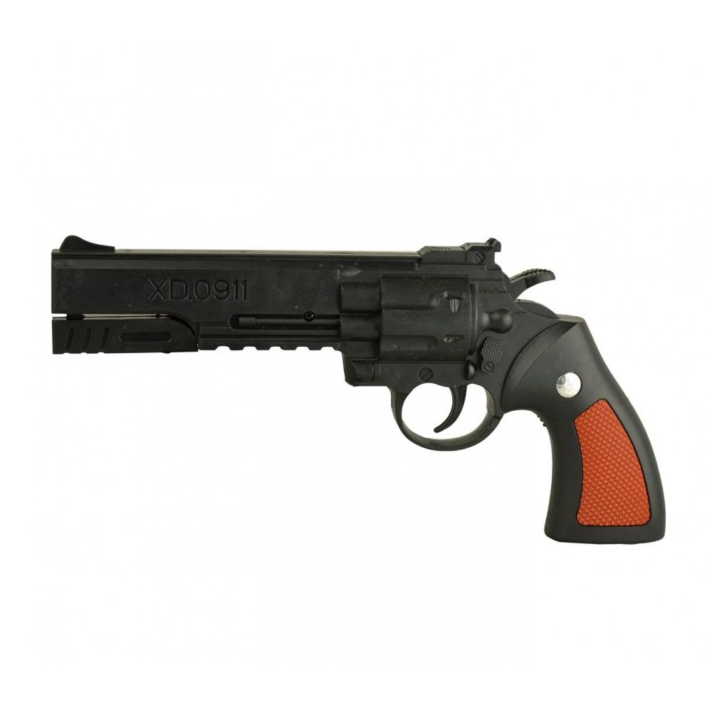 Pistola revolver giocattolo 285503 a tamburo 6 mm con pallini inclusi