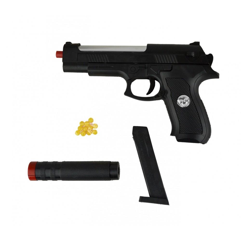 Pistola giocattolo Sport Gun 285589 con SILENZIATORE  HY-730A 6 mm a pallini
