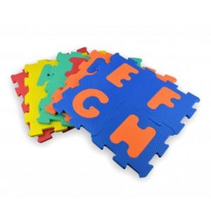Tappeto puzzle eva 20 pz 529057 componibile 15 x 15 cm lettere e numeri