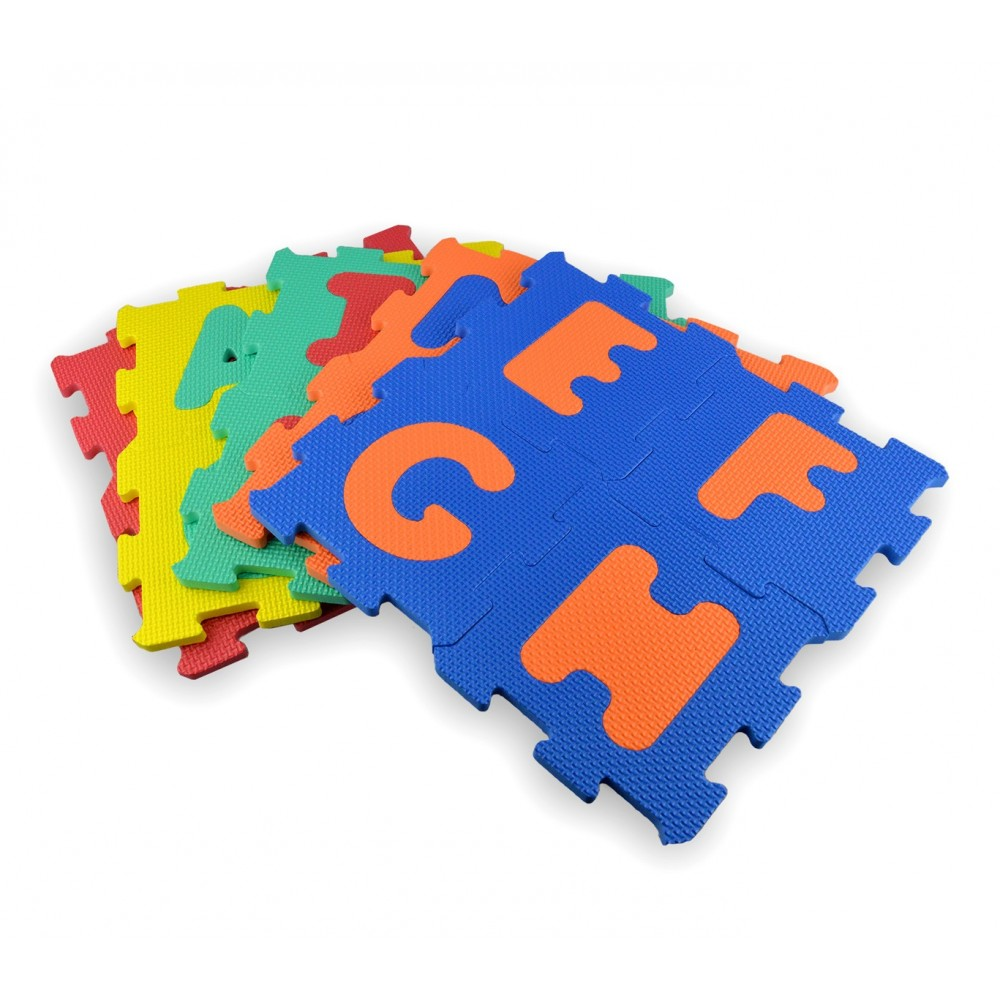 c768fe56a4 Tappeto puzzle eva 20 pz 529057 componibile 15 x 15 cm lettere e numeri