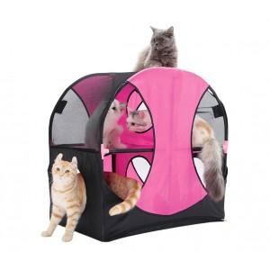 Image of Gioco interattivo per gatti a ruota 220847 WHEEL a due livelli e vari ingressi 8435524510520