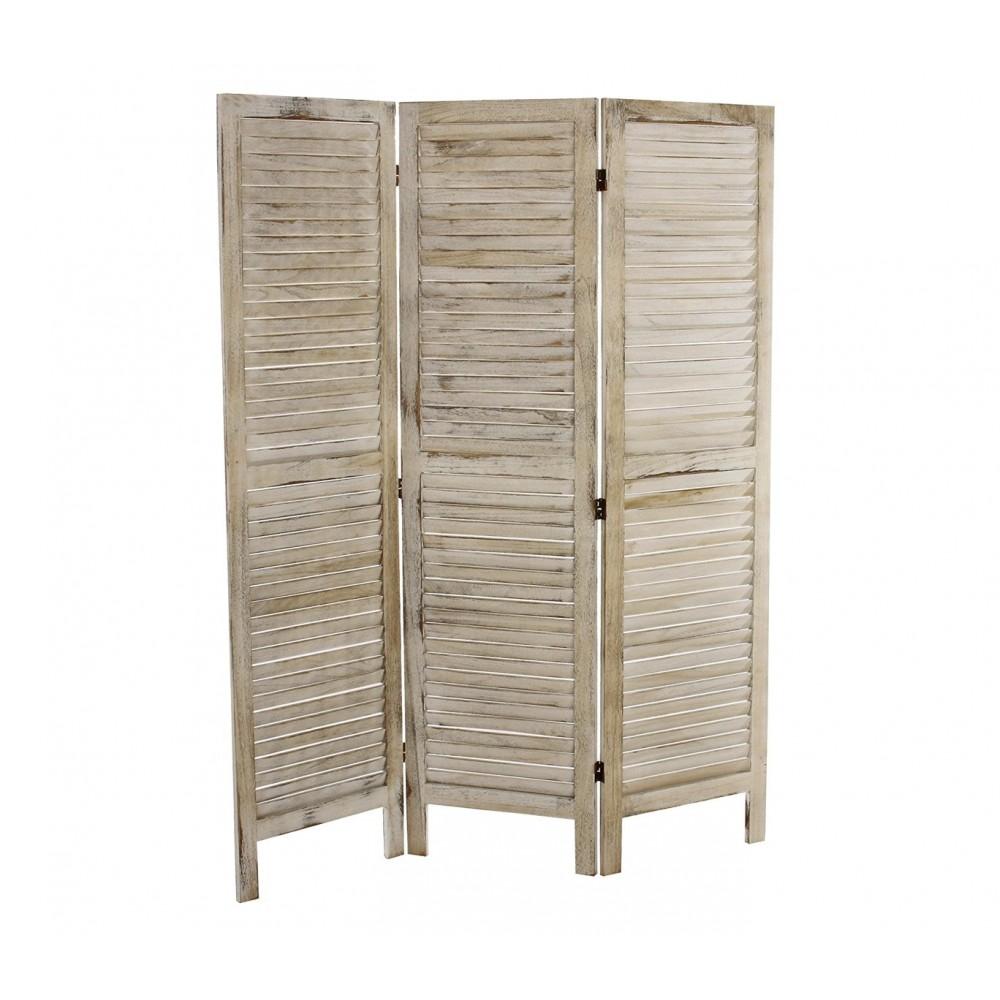 Separè paravento 3 pannelli 394502 mod. Classico in legno naturale