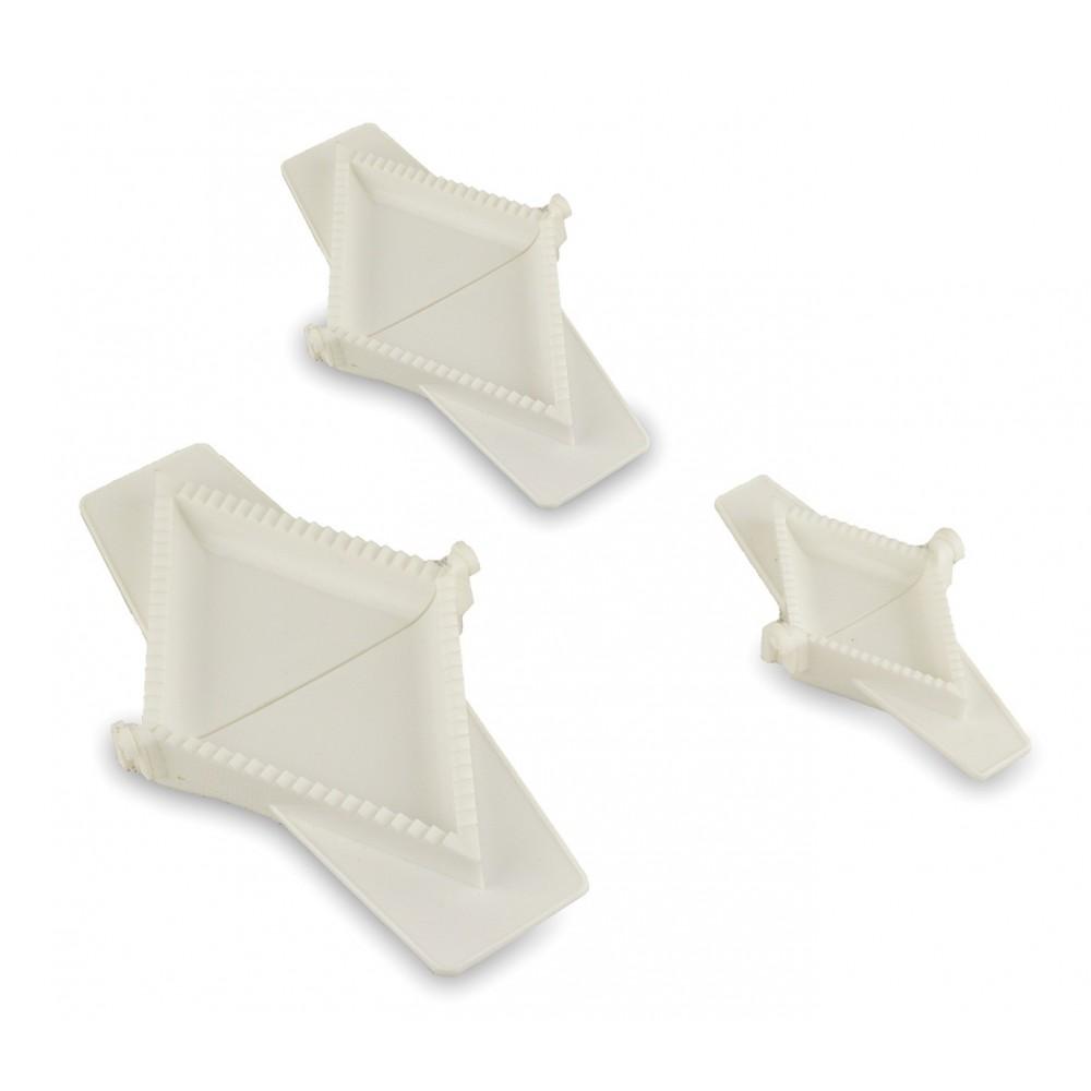 Set di 3 formine Triangolari 227626 diverse misure WelkHome per ravioli tortelli