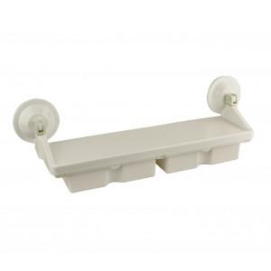 Mensola a ventosa con due cassetti 166499 resistente senza necessità di fori
