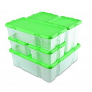 Image of Set 6 contenitori in plastica FRESH BOX varie misure 073896 coperchi ermetici 8435524510841