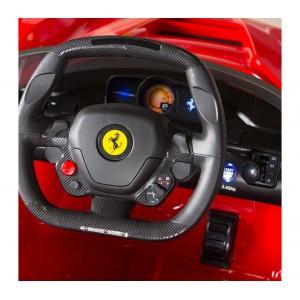 Image of Auto bambini elettrica FERRARI B81842 sedile in pelle e chiavi 12V telecomando 8435524515594