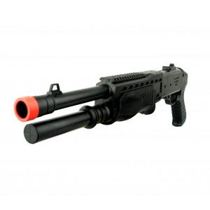 Fucile a pompa giocattolo a pallini 318829 calibro 6 mm con mirino doppia canna