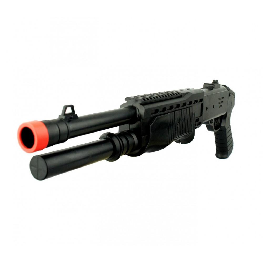 Fucile a pompa giocattolo a pallini 318829 calibro 6 mm SPA512 doppia canna