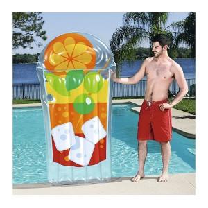 44037 Materassino Tropical beverage 190 x 99 cm con maniglie e portabicchiere