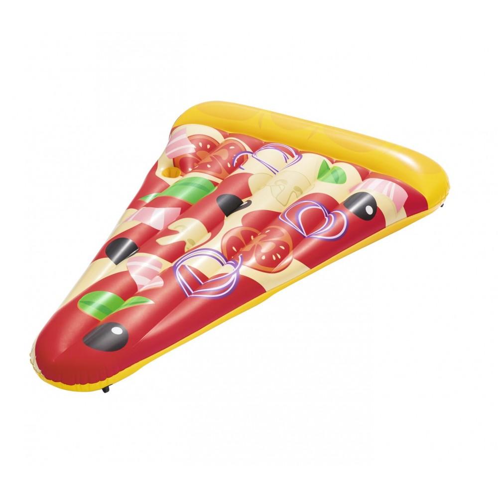 Poltrona materassino Pizza Party BESTWAY 188 x 130 cm 44038 con portabicchiere