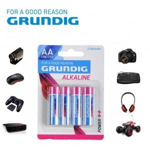 Stilo Grundig alcaline formato AA LR6 1.5V 2100 mAh confezione da 4 batterie per tutti i dispositivi elettronici