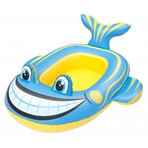 Image of Canottino Pool Float gonfiabile BESTWAY 107 x 98 cm 34085 a forma di pesce 8435524511565