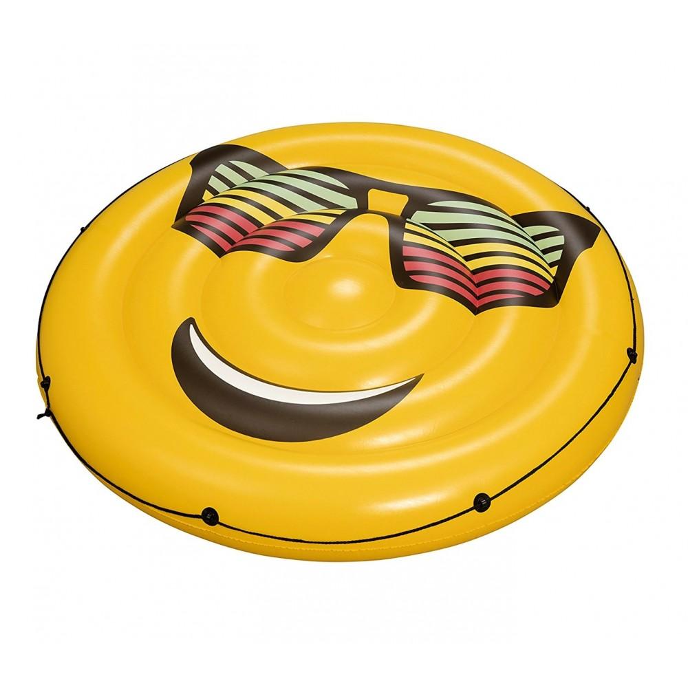 Isola gonfiabile 43139 diametro 188 cm BESTWAY smile e occhiali da sole