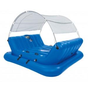 43134 Isola galleggiante gonfiabile Coolerz per 4 con autoparlanti e parasole