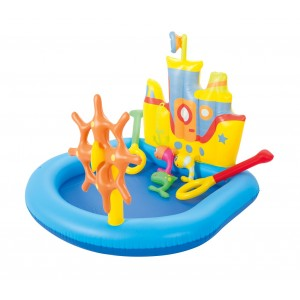 Image of Piscina Play Center BESTWAY gonfiabile Nave 52211 pesci e acc. 140x130x104 cm 6942138934519