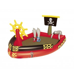 53041 Piscina Play Center Pirati con giochi e cannone spruzzo 190x140x96cm