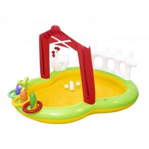 Image of Piscina Play Center Fattoria BESTWAY 53065 con spruzzo e giochi 175x147x102 cm 6942138926095