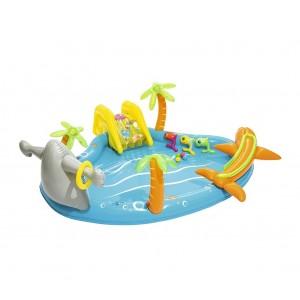 Image of Piscina Play Center Mare BESTWAY 53067 fondo gonfiabile e scivolo 280x257x87 cm 6942138926101