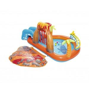 Image of Piscina Play Center Vulcano BESTWAY 53069 giochi e scivolo 265x265x104cm 6942138926125