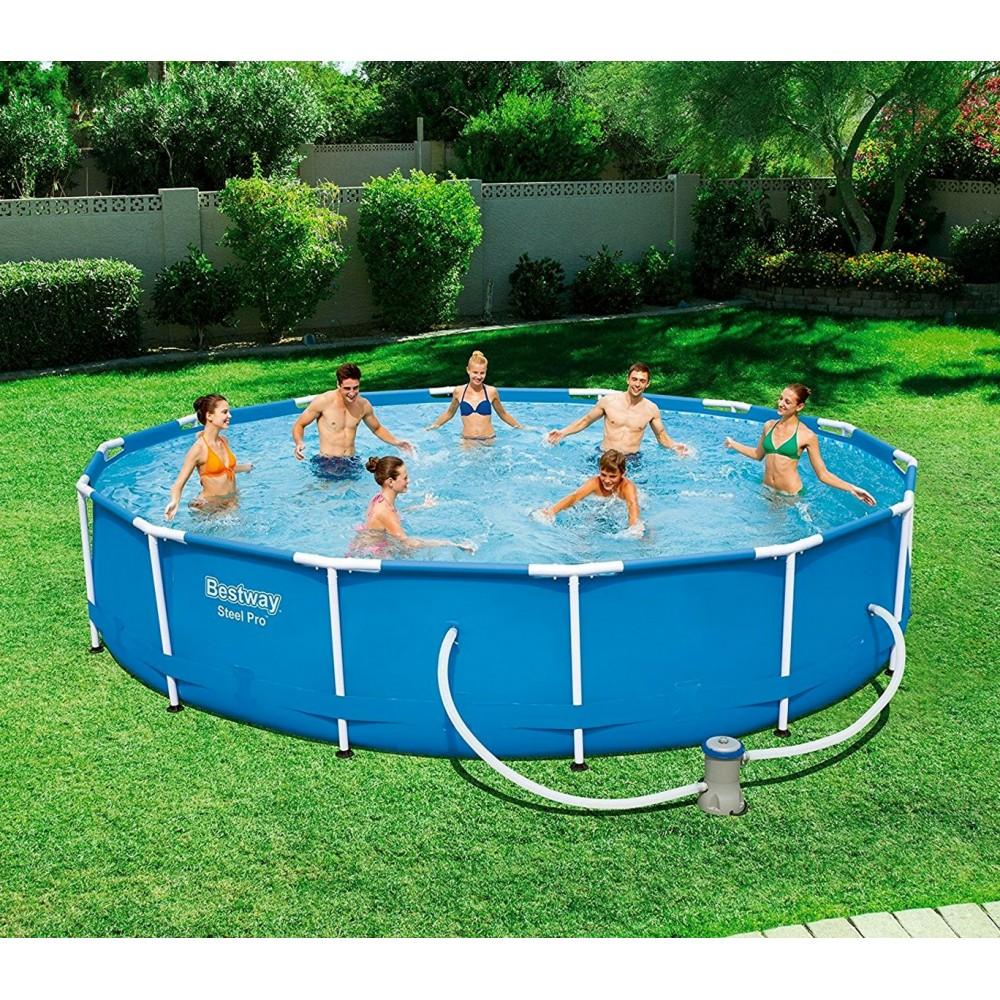 56595 piscina steel pro bestway con pompa filtro diametro for Pompa x laghetto con filtro