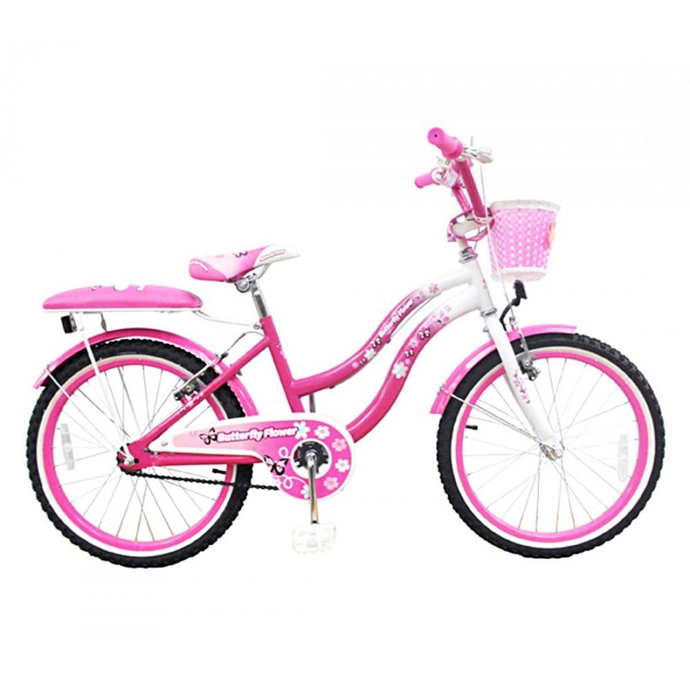 Bicicletta Butterfly Flower Taglia 20 Bici Per Bambina 510163