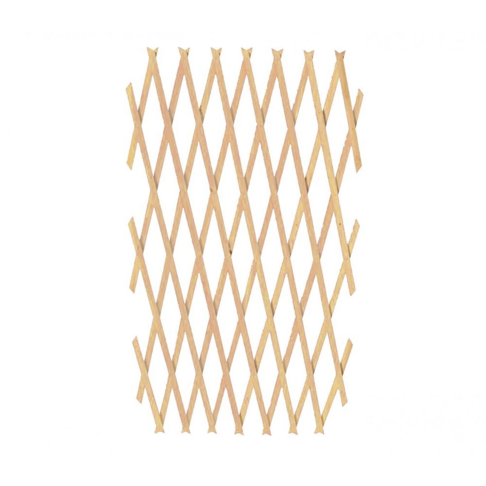 Barriera in legno grigliato estensibile 434013 da 150x30 cm Welkhome
