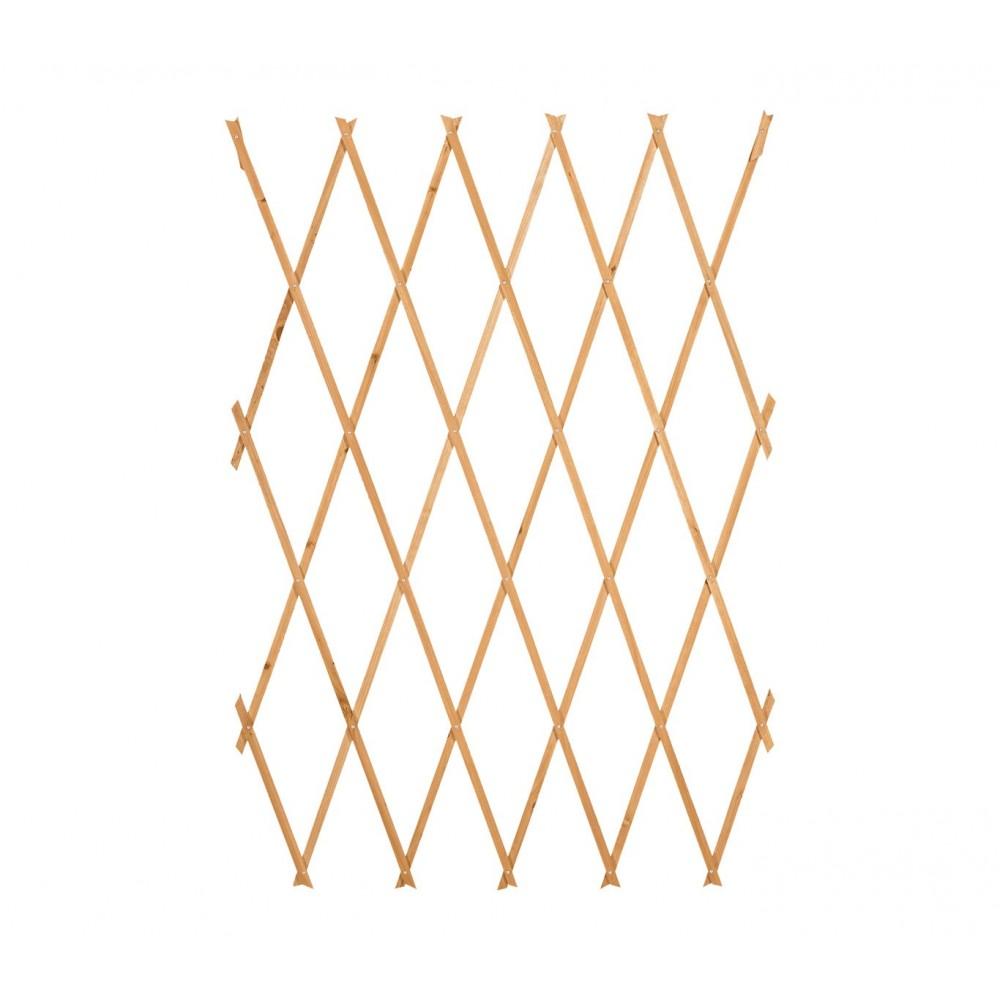 Traliccio in legno grigliato estensibile 434020 da 180x60 cm Welkhome per piante